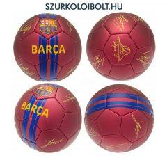 """FC Barcelona  Signature"""" szurkolói focilabda, a csapat tagjainak aláírásával, hivatalos FC Barcelona ajándék"""