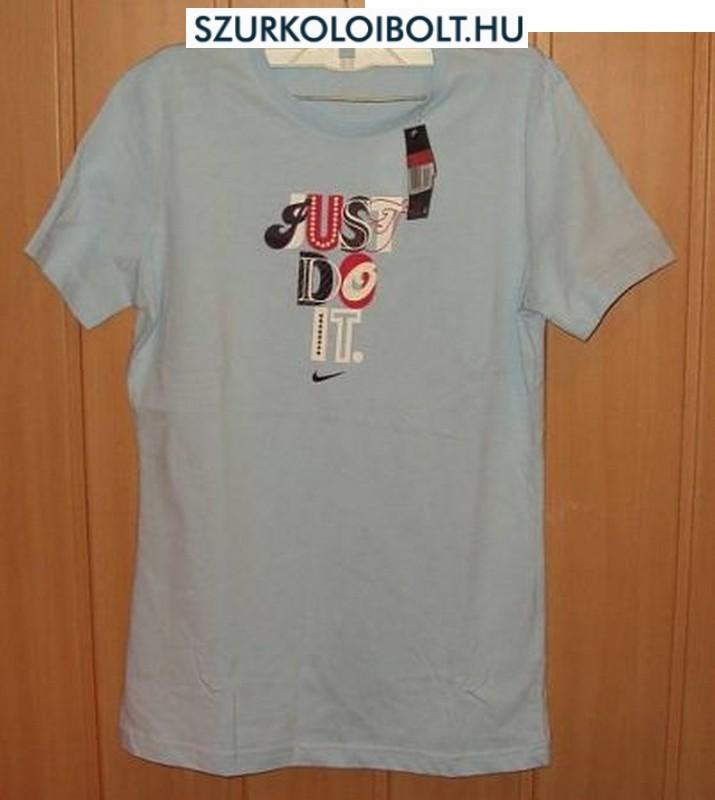 Nike Just Do It - kék női póló - Eredeti termékek szurkolói boltja ... 15d4dc0155