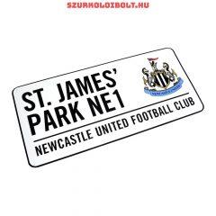 Newcastle United utcanévtábla - eredeti, hivatalos klubtermék