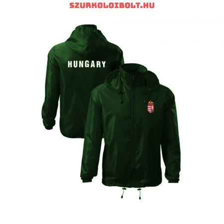 Hungary feliratos széldzseki / esőkabát - magyar válogatott dzseki (zöld színben) kapucnis és kapucni nélküli kivitelben