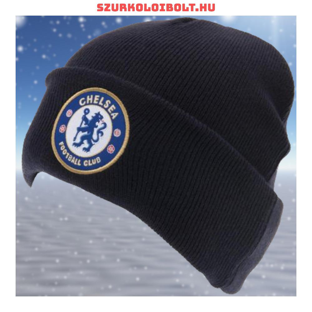 Chelsea FC kötött sapka - sötétkék színű Chelsea logóval - Eredeti ... 3ea23a9919