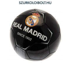 Real Madrid szurkolói labda (fekete)- normál (5-ös méretű) Real Madrid  címeres focilabda