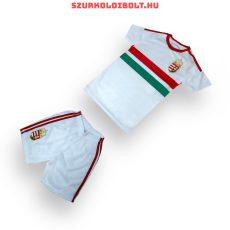 Magyarország szurkolói válogatott gyerek fehér focimez és short (replica)- hímzett magyar válogatott drukkermez (akár felirattal is)