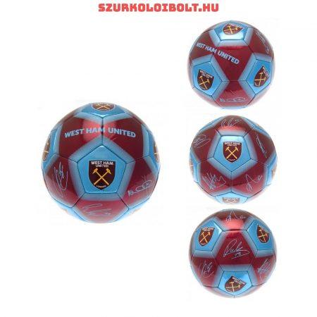 """West Ham FC """"  Signature"""" szurkolói labda - normál (5-ös méretű) West Ham címeres focilabda a csapat tagjainak aláírásával"""