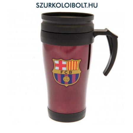 FC Barcelona utazó pohár, bögre (bordó) fogantyúval - hivatalos FC Barcelona klubtermék