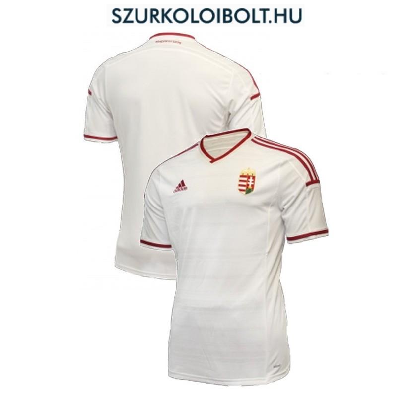 Adidas Magyar válogatott hivatalos mez hímzett címerre (fehér) - kötelező  szurkolói termék a88b7055ba