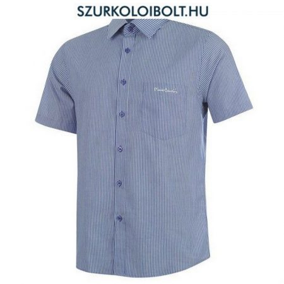 Pierre Cardin ing - kék-fehér csíkos rövidujjú ing