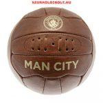 Manchester City labda - normál (5-ös méretű) Manchester City címeres szurkolói retro bőr focilabda