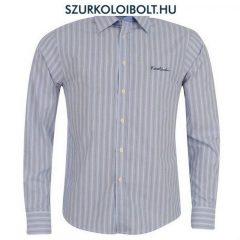 Pierre Cardin ing - világoskék hajszálcsíkos hosszú ujjú ing
