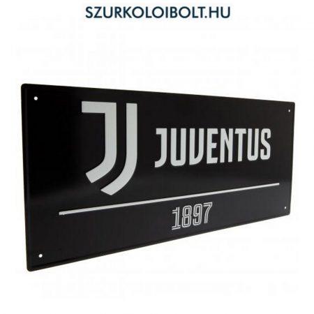 Juventus utcanévtábla (fekete) - eredeti, hivatalos klubtermék