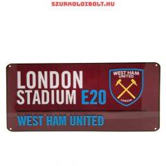 West Ham United színes utcanévtábla - eredeti, hivatalos klubtermék