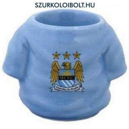 Manchester City mezalakú kerámia tojástartó / kupicás pohár, felespohár