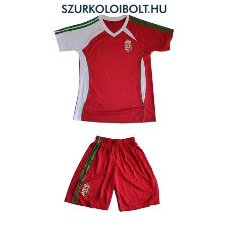 Magyarország szurkolói válogatott gyerek piros focimez és short (replica)- hímzett magyar válogatott drukkermez (akár felirattal is)
