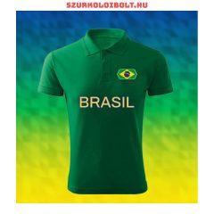 Brazília szurkolói ingnyakú póló - Brazília válogatott drukkerpóló