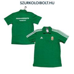 Adidas Magyar válogatott hivatalos póló hímzett címerrel (zöld) - kötelező szurkolói termék