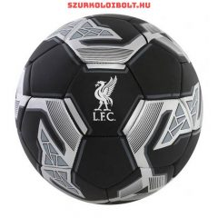 "Liverpool FC "" Black Signature"" szurkolói labda - normál (5-ös méretű) Liverpool címeres focilabda"
