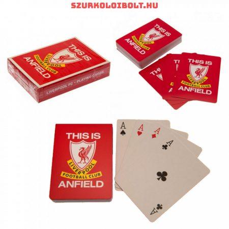 Liverpool szurkolói kártya, römikártya, eredeti hivatalos klubtermék.