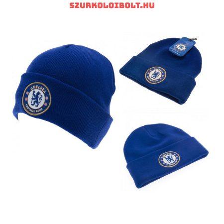 Chelsea FC kötött sapka - kék színű Chelsea logóval
