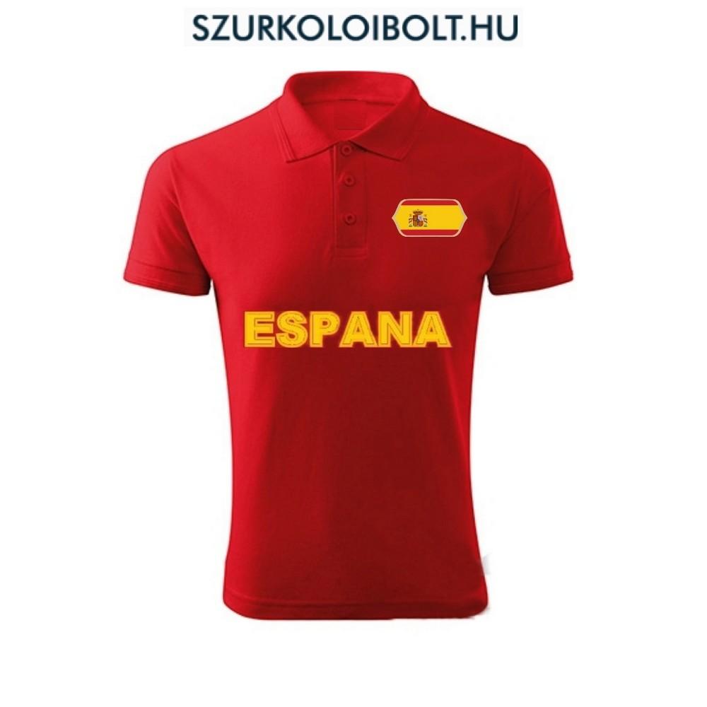 Spanyol póló - szurkolói ingnyakú   galléros póló (pios) - Eredeti ... 40fb6f5c72