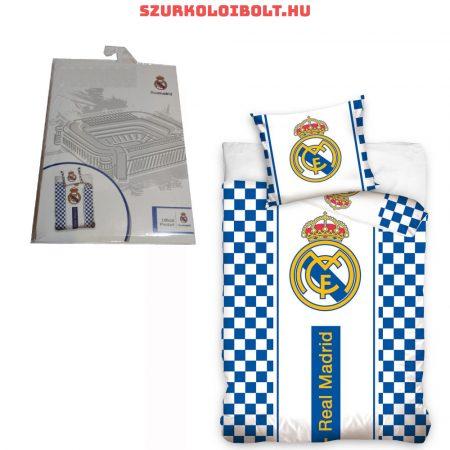 Real Madrid szurkolói ágynemű garnitúra / szett - hivatalos klubtermék (kockás)