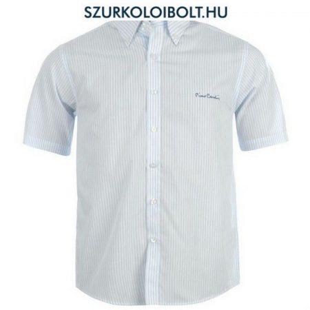 Pierre Cardin ing - fehér, kék csíkos rövidujjú ing