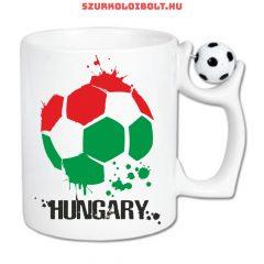 Magyarország bögre virág mintás