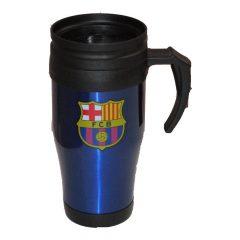 FC Barcelona utazó pohár, bögre (kék) fogantyúval - hivatalos FC Barcelona klubtermék