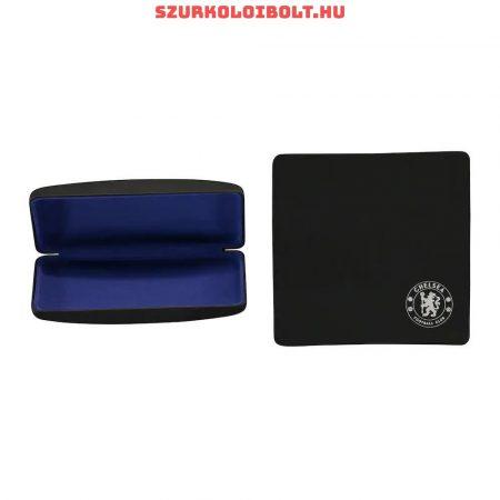 Chelsea Fc fekete szemüvegtok - gravírozott tok díszdobozos csomagolásban