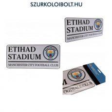 Manchester City FC utcanévtábla (kerek címeres) - eredeti, hivatalos klubtermék