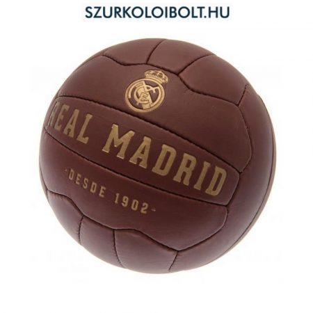 Real Madrid labda - normál (5-ös méretű) Real Madrid címeres szurkolói retro bőr focilabda