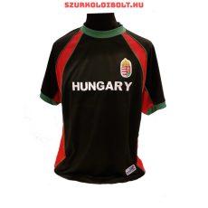 Magyarország szurkolói focimez (fekete) - hímzett magyar válogatott drukkermez (akár felirattal is)