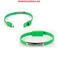 Ferencváros csuklópánt / karkötő, USB töltővel (Hajrá Fradi!)- eredeti FTC szurkolói termék