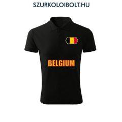 Belgium póló -  szurkolói ingnyakú / galléros póló (fekete)