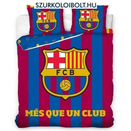 Kétszemélyes Barcelona szurkolói ágynemű garnitúra / szett (csíkos) - FCB - eredeti, hivatalos szurkolói termék