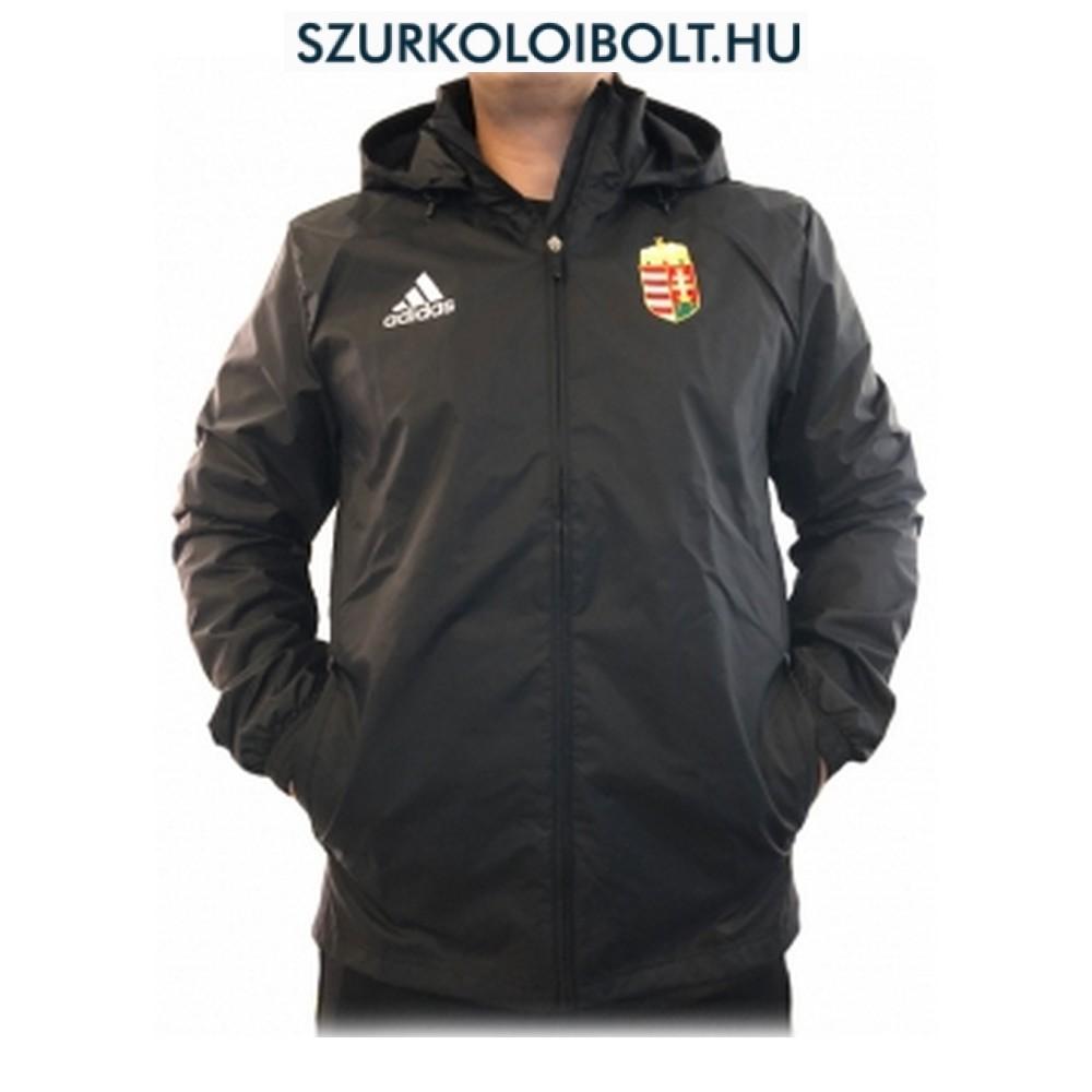 a676257303 Adidas Hungary feliratos széldzseki / esőkabát - magyar válogatott dzseki  (fekete színben)