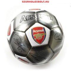 """Arsenal FC """" Silver Signature"""" szurkolói labda - normál (5-ös méretű) Arsenal címeres focilabda a csapat tagjainak aláírásával"""