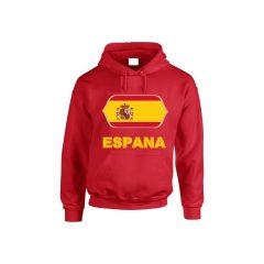 Spanyol feliratos kapucnis pulóver (piros) - Spanyol válogatott pulcsi