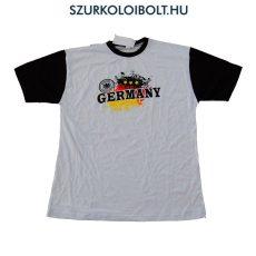 Germany feliratos rövidujjú pamut póló (fehér) - német szurkolói póló