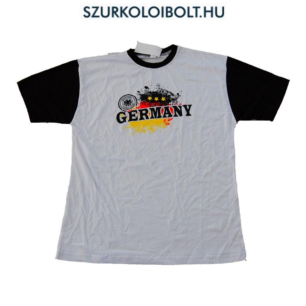 Germany feliratos rövidujjú pamut póló (fehér) - német szurkolói póló cd42179a58