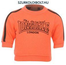 Lonsdale melegítő / szabadidő felső - gyerek pulcsi narancs színben (18-24 hó)