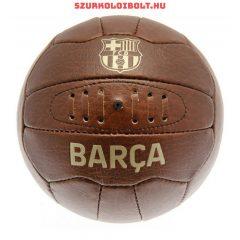 FC Barcelona labda - normál (5-ös méretű) FC Barcelona címeres szurkolói retro bőr focilabda