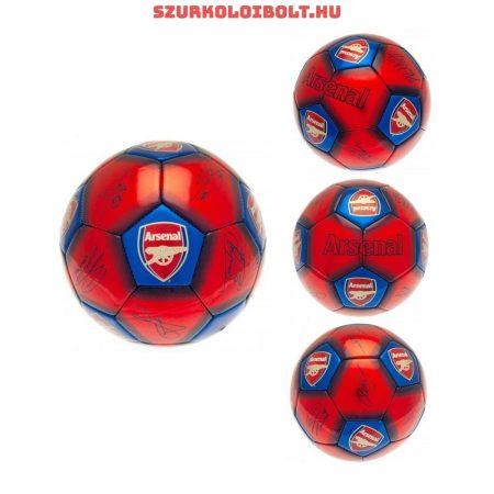 """Arsenal FC """"Signature"""" labda - normál (5-ös méretű) Arsenal címeres szurkolói focilabda a csapat tagjainak aláírásával"""
