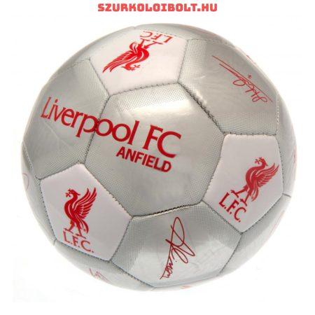 """Liverpool FC """" Silver Signature"""" szurkolói labda - normál (5-ös méretű) Liverpool címeres focilabda a csapat tagjainak aláírásával"""