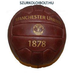 Manchester United labda - normál (5-ös méretű) Manchester United címeres szurkolói retro bőr focilabda