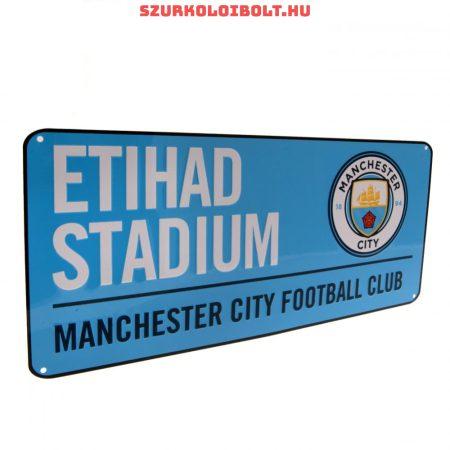 Manchester City FC utcanévtábla - eredeti, hivatalos klubtermék