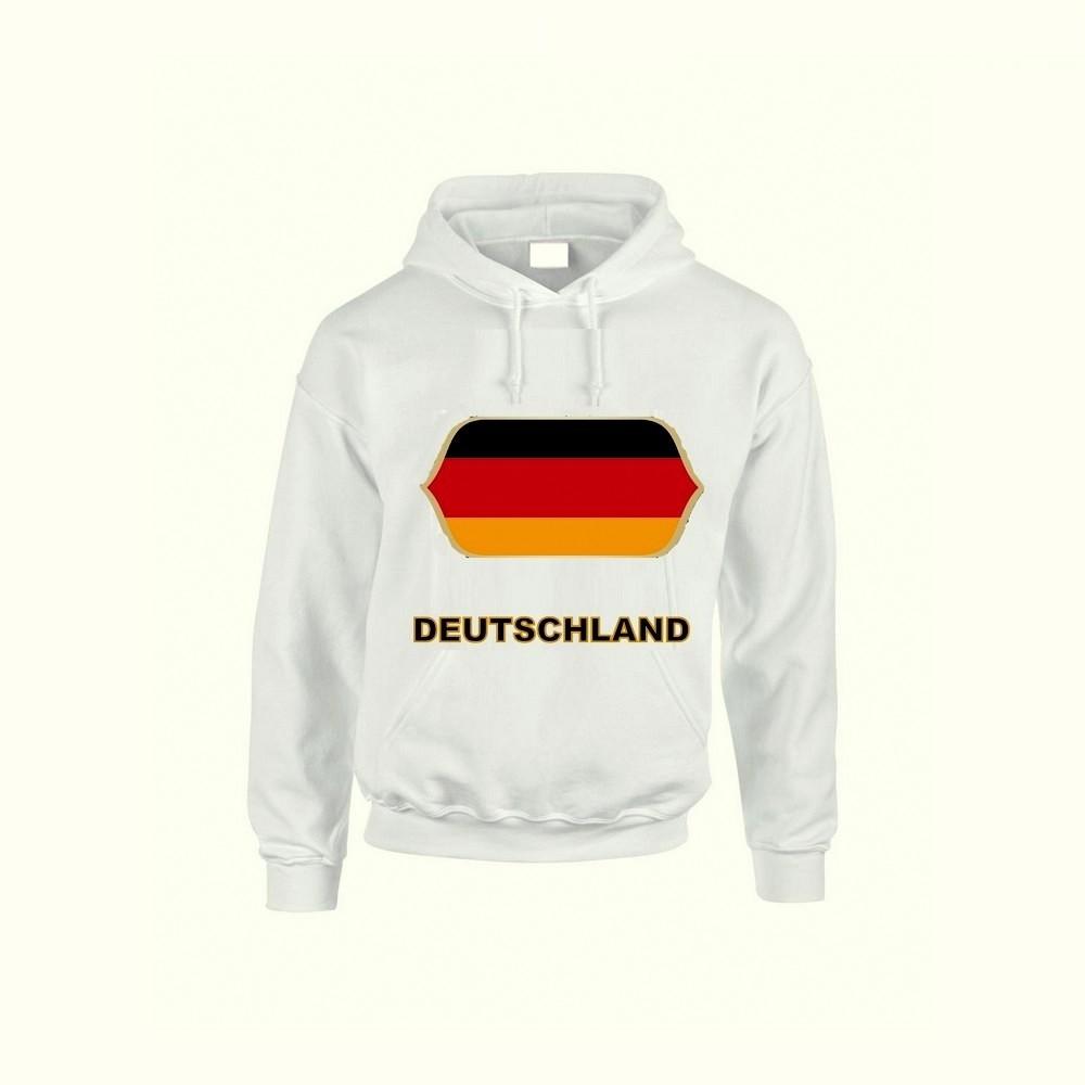 Németország feliratos kapucnis pulóver (fehér) - Németország válogatott  pulcsi c708b32cd3