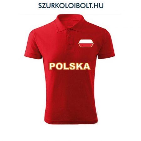 Lengyel póló -  szurkolói ingnyakú / galléros póló (pios)