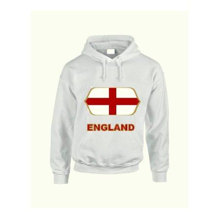 England feliratos kapucnis pulóver (fehér) - England válogatott pulcsi