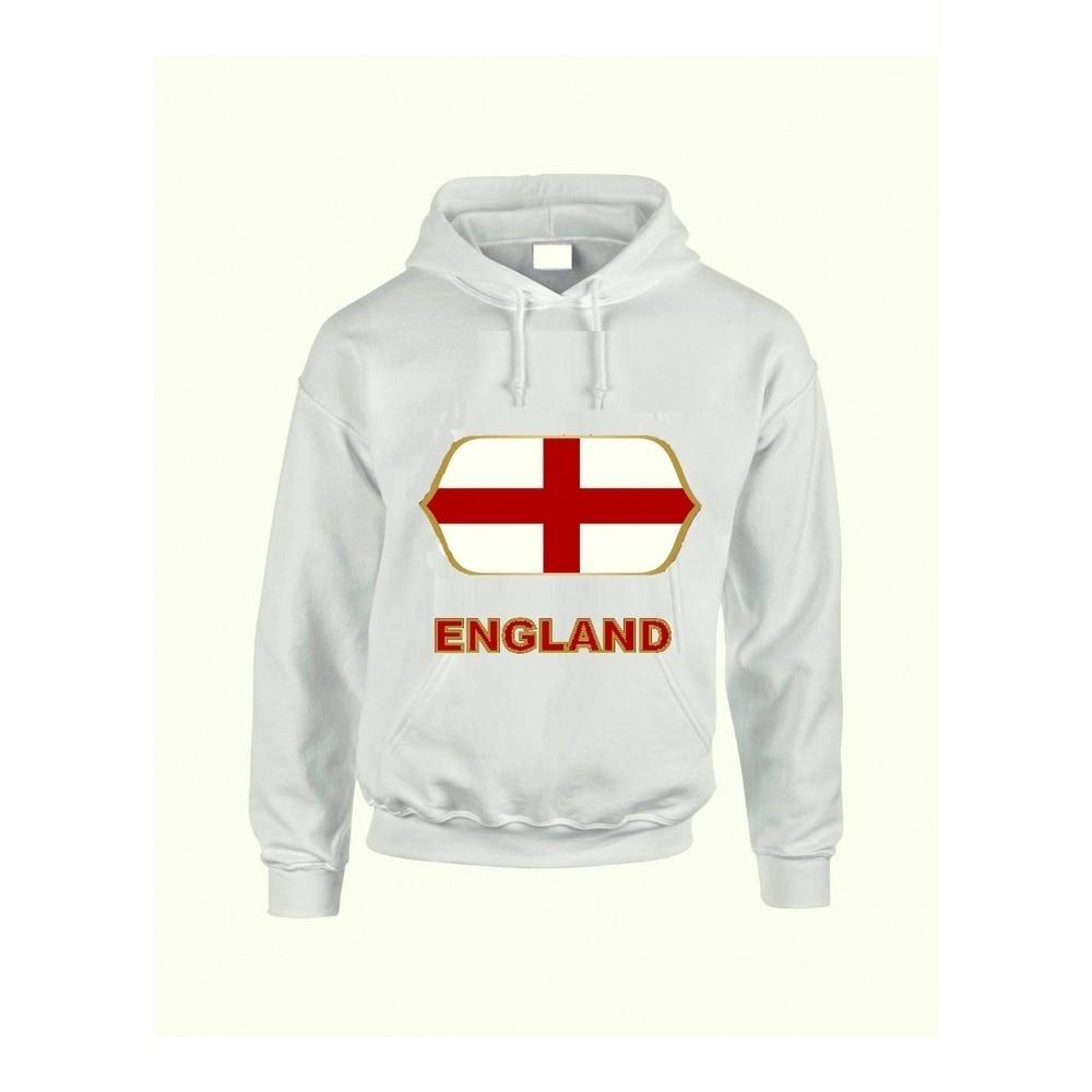 England feliratos kapucnis pulóver (fehér) - England válogatott pulcsi 8ece162d0c