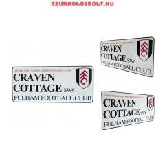 Fulham utcanévtábla (kerek címeres) - eredeti, hivatalos klubtermék